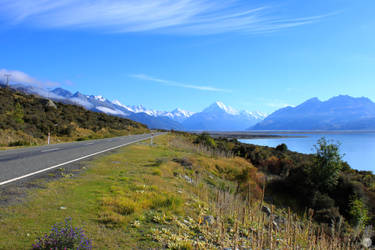 Road to Mt Cook by MrsSpock