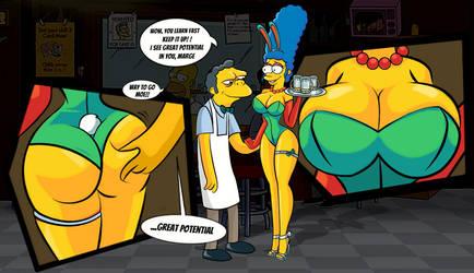 Marge's new job by Linkartoon