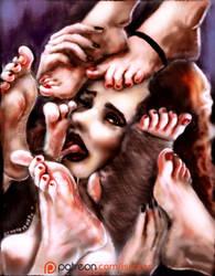 Black Widow party of Feet! (Fanart) by IskenderunRock