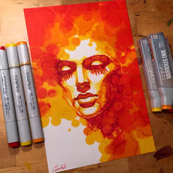 Warm color experiment by CallieFink