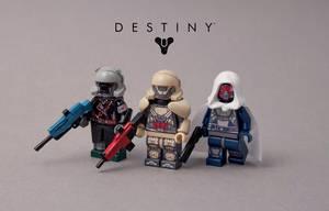 Lego Destiny figures by exxtrooper