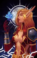 Commission: Faerin Darkheart tarot by RedlyJester