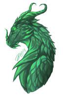 Wyrm's Dragon Form by Silverlykta
