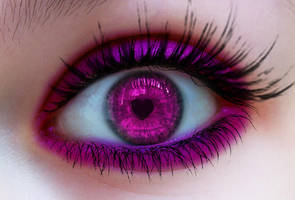 Intense Pink heart eye 2 by LT-Arts