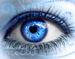 Blue Heart Eye by LT-Arts