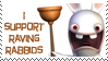 Raving Rabbids stamp by invader-zim-14