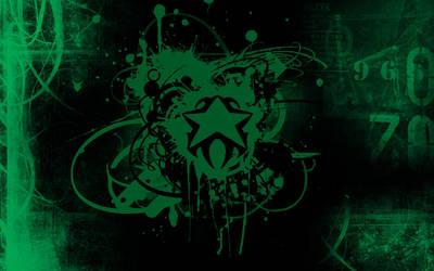random grungy green wallpaper by invader-zim-14
