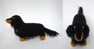 Long haired doxie by LunasCrafts