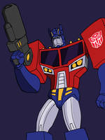 Animated-Heroes Optimus Prime by Johnny216