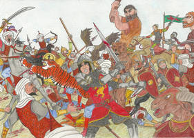 Battle at Anvard by OlaNaTungee