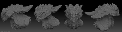 Zbrush - demonic creature by AbelPhee