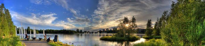 Oulu sunset panorama by Orzel