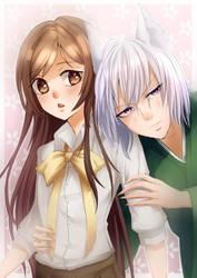 Kamisama Hajimemashita - Nanami and Tomoe by Nilfea