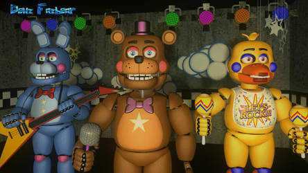 The Rockstar Assemble (FNAF - SFM) by FazbearM