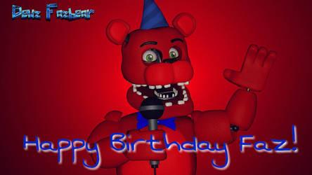 Happy Birthday Faz! (SFM - OC) by FazbearM