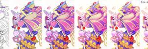 Traditionnal Sketch colored digitally Step By Step by Halgalaz