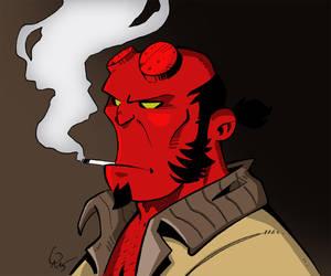 Hellboy by Gadrien