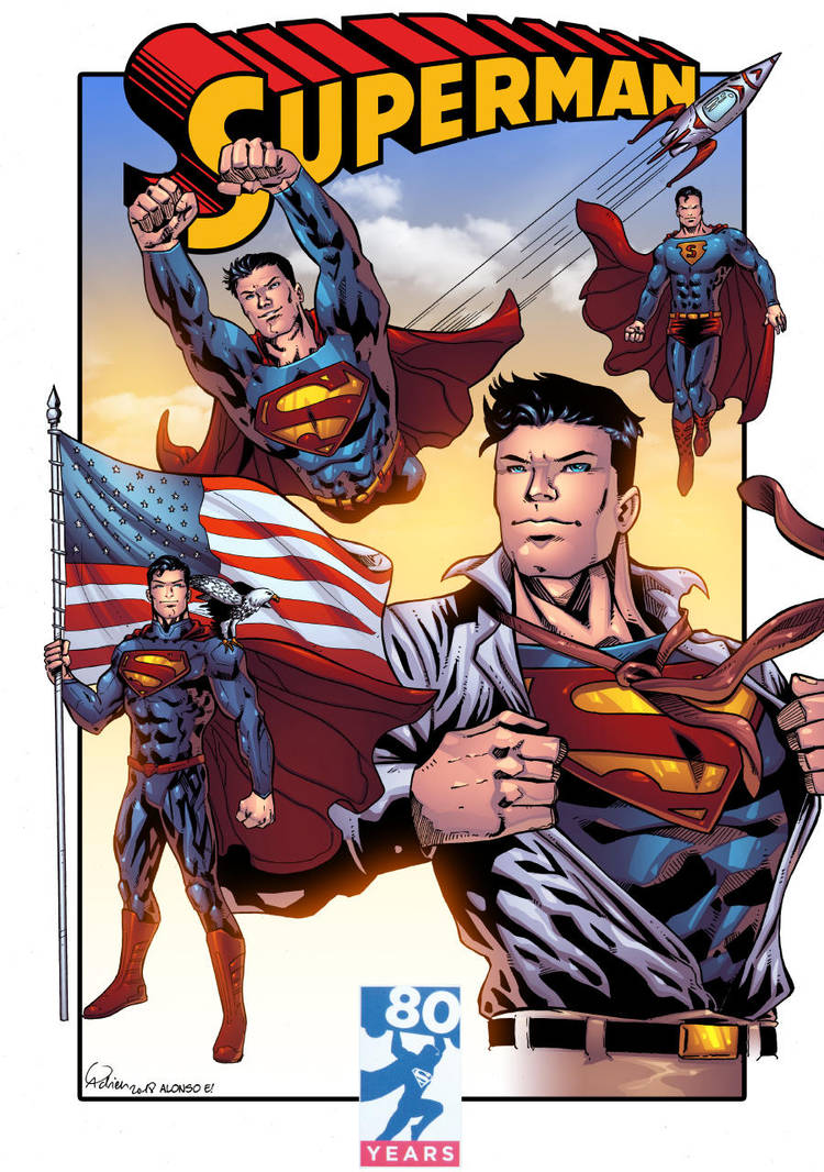 Superman 80 years by Gadrien