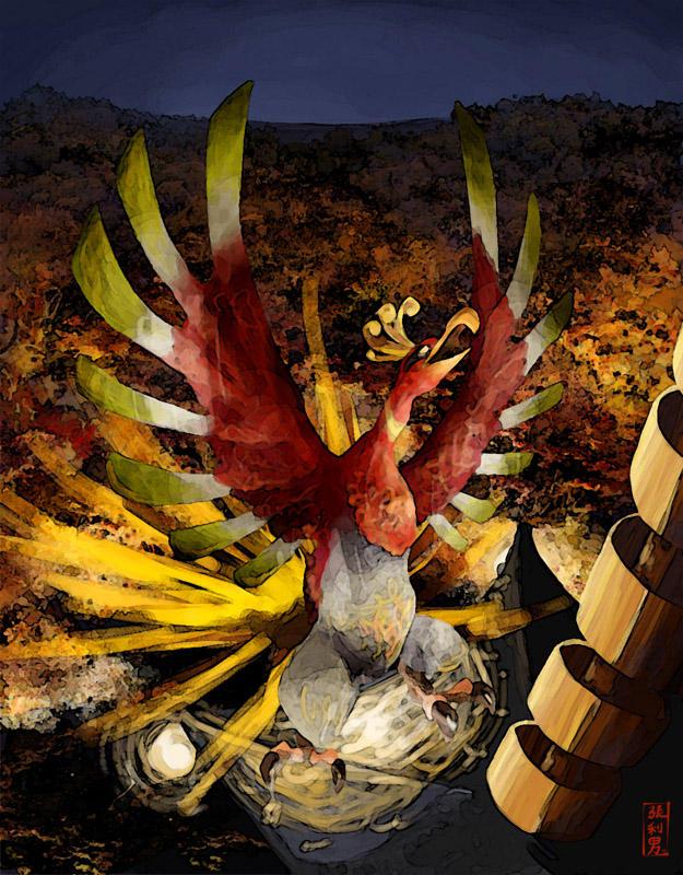 Descending Phoenix by StevenChong-no-GMF