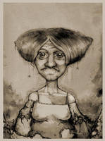 old lady by gapinska
