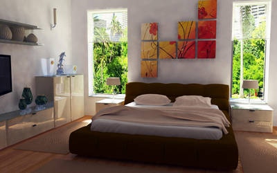 Bedroom 3D modelling by TheDpStudio