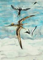 Tethydraco and Alcione by Kutchicetus-Minimus