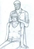 Pyro's Haircut by deserthaze