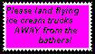 Flying Ice Cream Trucks Stamp by FernclawStamps
