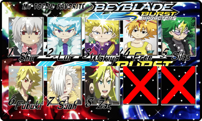 Top 10 Favorite Beyblade Burst Characters by LadySesshy
