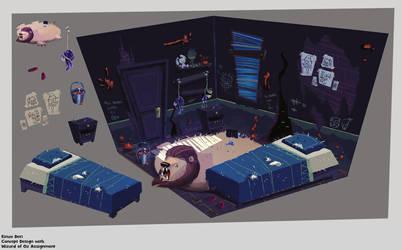 Disturbing Oz - Room Design by AnimationGirl-Art