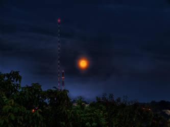 Staring Moon by ThePraiodanish