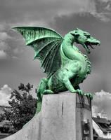 Dragon at Dragon bridge, Ljubljana, Slovenia by ThePraiodanish