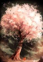 Wind Blowing Through a Cherry Tree by NOEYEBROW