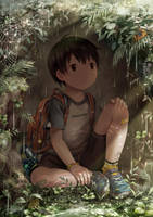 First time in a rain shelter by NOEYEBROW