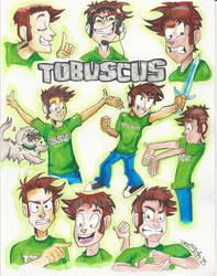Tobuscus (Adventures!) Character Designs by ErinDromeda