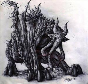 Elephant dragon monster hunter wanabe by LegendaryPumpkin