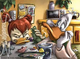 A Mallard Breakfast by SplatterPhoenix