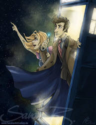You and I and Space and Time by SplatterPhoenix