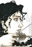 Inkvember II - My dear Miss Everdeen by SplatterPhoenix
