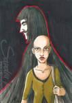 Inkvember XXII - V and Evey by SplatterPhoenix