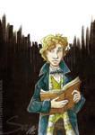 Inkvember XXVIII - Mr Scamander by SplatterPhoenix