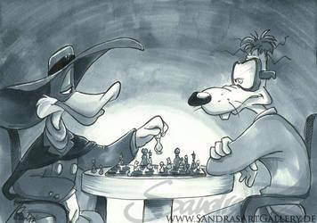 A game of chess by SplatterPhoenix