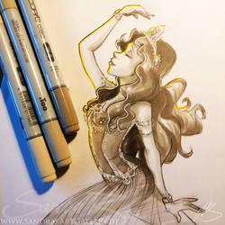 Christine dancing by SplatterPhoenix