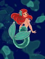 Ariel  of The Little Mermaid by celticwren