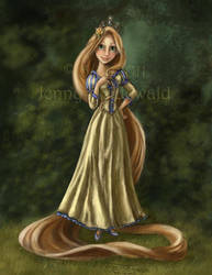 Rapunzel : coloring book by celticwren