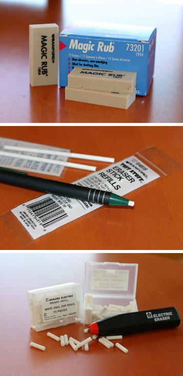 Drawing Supplies Erasers by J-Scott-Campbell