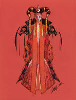 Queen Amidala TALL color by J-Scott-Campbell