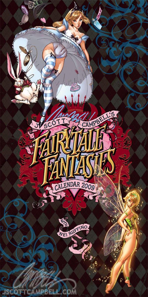 JSC's FairyTale Calendar 2010 by J-Scott-Campbell
