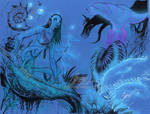 Neytiri from AVATAR blue paper by J-Scott-Campbell