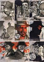 INDIANA JONES Sketch Cards 2 by J-Scott-Campbell